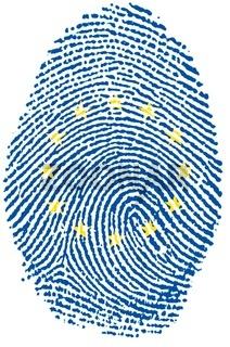 Europe flag Fingerprint