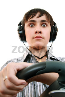 Emotions teenager from a computer game
