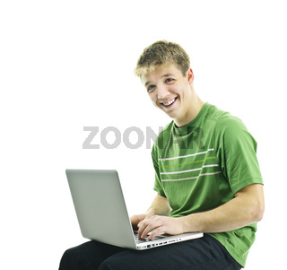 Young man with laptop computer