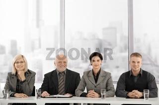 Businessteam at meeting