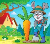 Rabbit gardener theme image 2