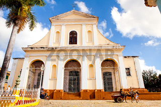 The main church of the UNESCO World Heritage old town of Trinidad, Cuba