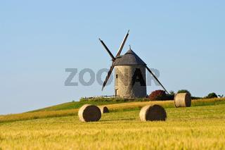 Pontorson Moulin de Moidrey in der Normandie - Pontorson Moulin de Moidrey in Normandy, France