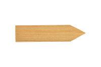 Holzpfeil auf weißem Hintergrund - Wooden direction arrow on white background