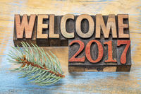 welcome 2017 word abstract