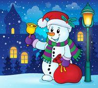 Christmas snowman topic image 2