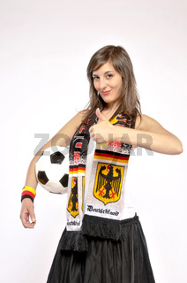 Confident Supporter Woman For The German Soccer Team