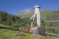 fountain in the Stubai alps