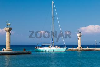 Mandraki Hafen, Rhodos, Griechenland