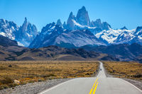Sunny day in February in Argentine Patagonia