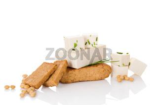 Culinary tofu eating.