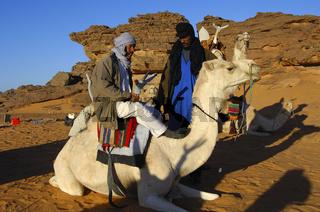 Tuaregnomaden im Akkakus Gebirge, Libyen