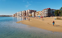 Acequion beach in the Torrevieja resort city. Spain