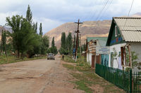 Village Street in Kyzyl Oi, Kökomeren Valley, Cental Kyrgyzstan