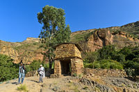Entrance to the rock-hewn church Maryam Papasetti, Megab, Tigray, Ethiopia