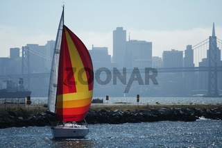 Sailboat San Francisco Background