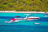 Sakarun beach yachting bay boats view