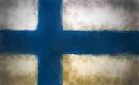 flagge von finnland auf grunge hintergrund - illustration
