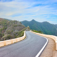 Meandering highway in the mountains