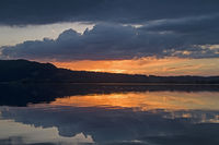 Sunset at Kochelsee