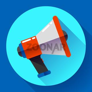 Megaphone Icon Vector. Viral marketing. Flat design style.