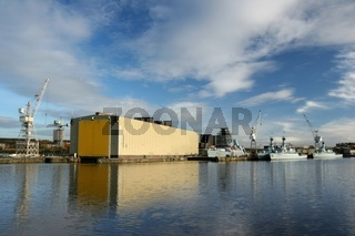 Shipyard on the River Clyde