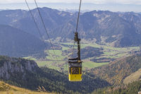 By cable car to the Wendelstein
