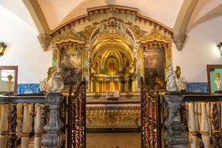 Chapel of the Bones in Evora with human bones