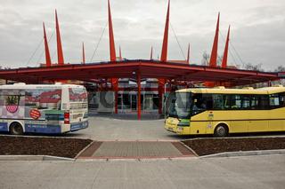 Busbahnhof in Eger (Tschechien)