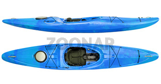 river running kayak isolated
