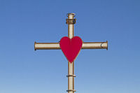 On a hill at ALCENAGO high above the industrial town Stallavena is this glowing cross with its strik