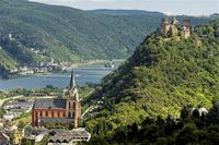 Oberwesel with Schoenburg