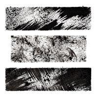 Black grunge stenciled rectangles