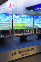 Flachbildschirme der Firma LG auf der Internationalen Funkausste