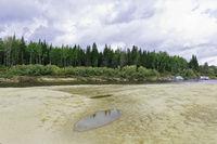 Taiga river Big Yugan in the vicinity of the village Ugut