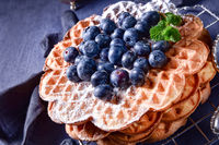 waffles with blueberries