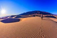 Sunrise in the orange sands
