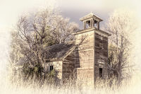 old abandoned schoolhouse in rural Nebraska