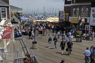 Pier 39 und Fisherman`s Wharf, Touristisches Zentrum  San Franc