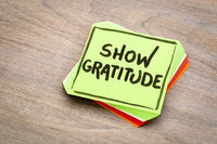 show gratitude - reminder note