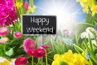 Sunny Spring Flower Meadow, Happy Weekend