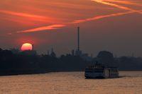 rhine with sunrise