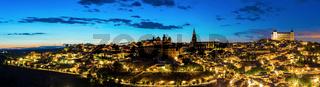 Panorama Toledo dusk