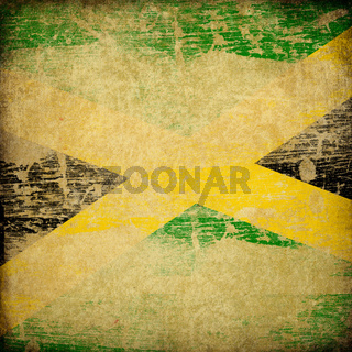 Jamaica grunge flag background.