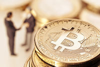Bitcoin and businessmen