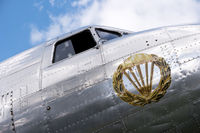 Detail of a historical aircraft