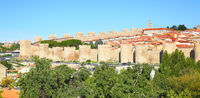 Panoramic view of Avila
