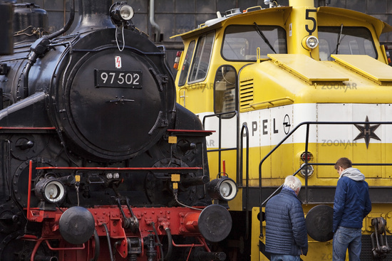 the last locomotive from Opel , Bochum Dahlhausen Railway Museum, Ruhr Area, Germany, Europe