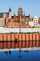 Old Town of Gdansk skyline in Poland