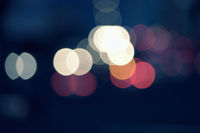 Blurred bokeh lights night urban background